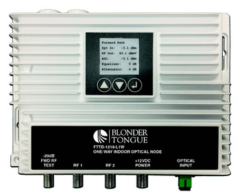 FTTB-1218-L1W One-Way Indoor Optical Node with Dual High-RF Outputs
