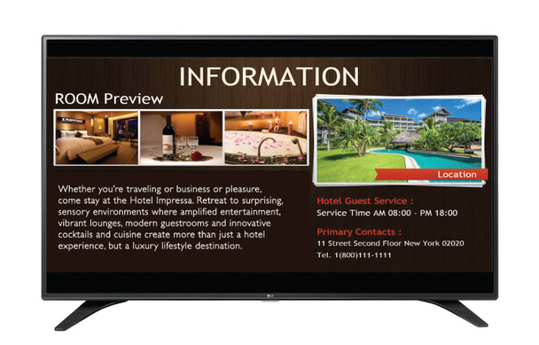 """55LW540S 55"""" Commercial LED Display"""