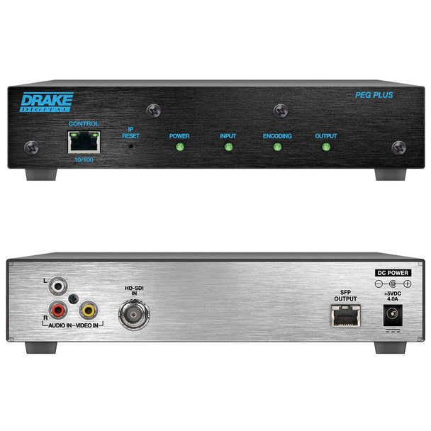 PEG PLUS MPEG-2 or H.264 Digital Video PEG Channel Encoder