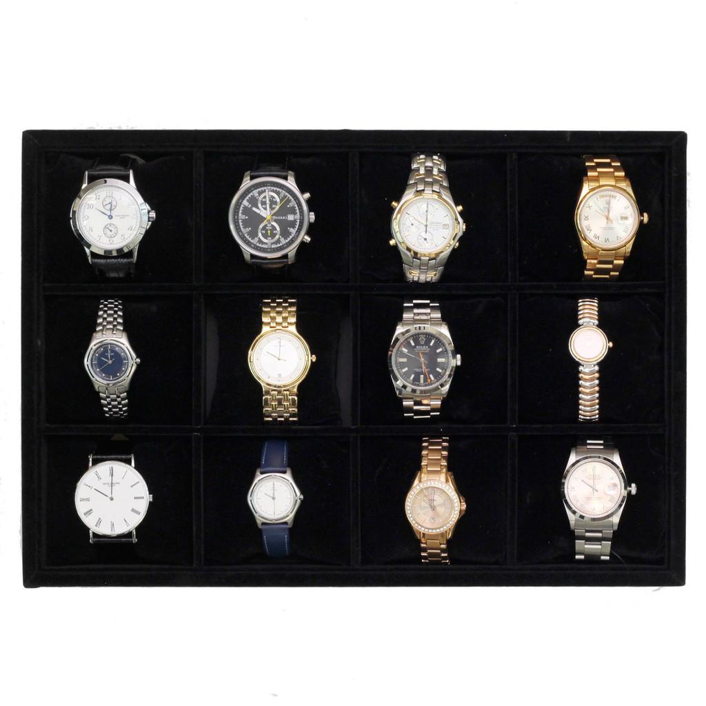Watch Storage Tray | Wristwatch storage Tray for Dressers and Safes | Safe Storage for Watches | TechSwiss TR130