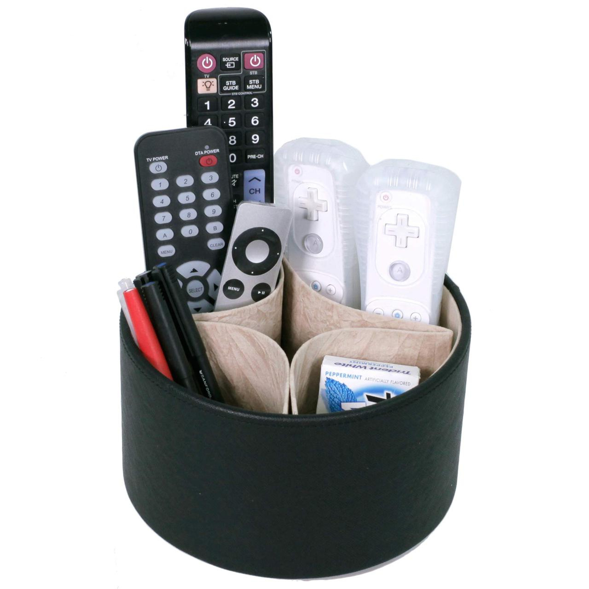 remote control organizer caddy coffee table tray techswiss home