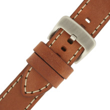 Watch Band Thick Tan Heavy Buckle LEA1553Panerai Style