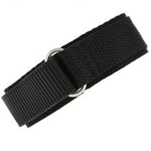 Black Velcro Watch Band | TechSwiss Black Velcro Watch Strap | VEL100BLK | Main