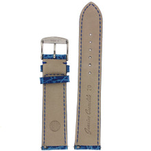 Cerulean Blue Crocodile Watch Band | Genuine Exotic Skin Straps | TechSwiss LEA850S | Lining