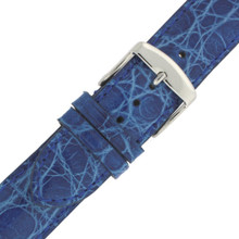 Cerulean Blue Crocodile Watch Band | Genuine Exotic Skin Straps | TechSwiss LEA850S | Buckle
