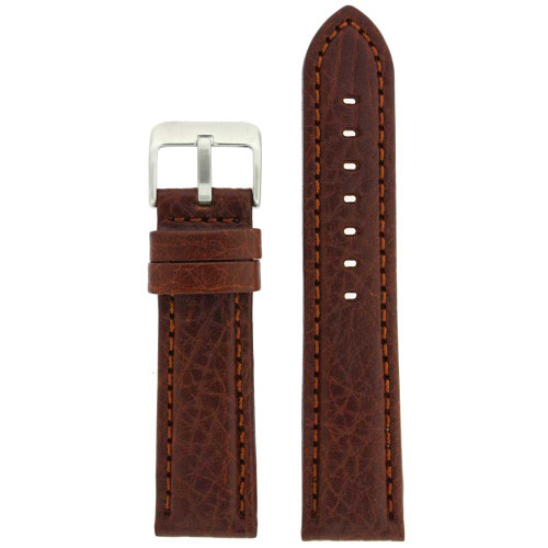 Brown Leather Watch Band | TechSwiss LEA1620 | Main