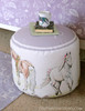 Monogramed Spring Pony Equestrian Ottoman