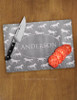 Personalized Galloping Horse Glass Cutting Board