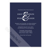Navy Blue and White Colored Invite
