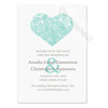 Teal and Brown Paisley Heart Save The Date Postcards