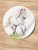 Whimsical White Pony Stickers (12)