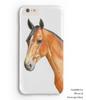 Bay Horse Head Equestrian iphone or samsung galaxy cell phone case
