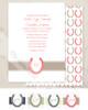 Horse shoe equestrian invitation
