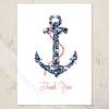 Ship Anchor Thank You Note Cards
