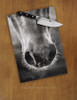 Horse Whiskers Glass Cutting Board