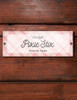 Pink Plaid Custom Horse Stall plate