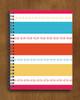 Modern Striped Horse Bits Pattern Spiral Notebook