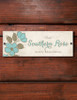Vintage Floral Acrylic Horse Stall Name Plate
