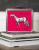 Personalized Pink Horse Lunch Box