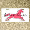 Pink Horse Lover Vanity License Plate