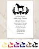Damask Horse Elegant Wedding Invitation (10 pk)