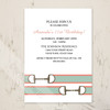 Pink and Green Ribbon Horse Bit Equestrian Birthday Party Invitation (10 pk)