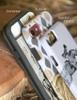 Navy Blue Horse Shoe Pattern Phone Case