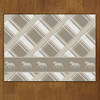 Neutral Plaid Horse Pattern Cloth Placemat