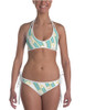 Striped Ribbon Bits Equestrian Swim Suit