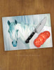 Blue Mare Watercolor Art Horse Lover Glass Cutting Board