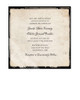 Rustic Vintage Photo Frame Wedding Invitation (25 pk)