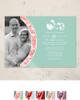 Damask Border Photo Template Wedding Invitation