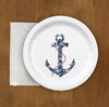 Nautical Wedding Ship Anchor Paper Party Plates (8 pk)