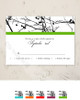 Tree Branches Wedding RSVP card (10 pk)