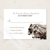 Carriage Horse Equestrian Wedding RSVP card (10 pk)