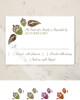 Fall Acorns and Leaves Wedding RSVP card (10 pk)
