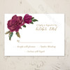 Watercolor Roses Wedding RSVP card (10 pk)