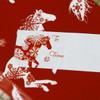 Snowflake Horse Christmas Gift Tag Labels.