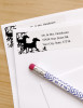 Wild Horses Flourish Return Address Labels