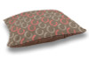 Coral and Brown Horse Shoes Dog Bed