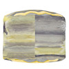 Yellow and Gray Abstract Galloping Horse Art Equestrian Ottoman