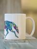 Trotting Floral Patterned Horse Coffee Mug