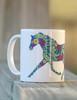 Trotting Horse equestrian coffee mug