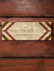 Faux Wood Grain Southwestern Style Horse Stall Name Plate