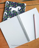 Whimsical White Pony Pattern Spiral Notebook