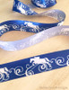 Blue Jumping Horse Flourish Ribbon