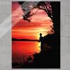 Sunfish Fly Fishing at Sunset Art Print