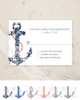 Navy and Coral Anchor Wedding RSVP card (10 pk)