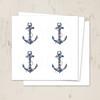 Beach wedding ship anchor envelope seal stickers