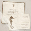 Seahorse Beach Wedding RSVP card (10 pk)